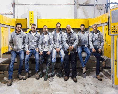 צוות המפעל - שיש רבינסקי